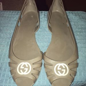 Gucci Gray  Jelly Ballet Flats Size 38